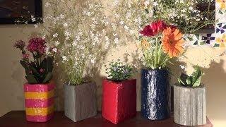 getlinkyoutube.com-Vasos de cimento - Cement pots - Potes de cemento