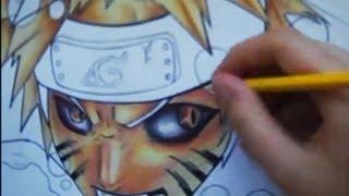 getlinkyoutube.com-Drawing Naruto kyubi mode and ichigo hollow