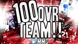 getlinkyoutube.com-100 OVERALL TEAM! Madden Mobile Gameplay Review