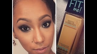 getlinkyoutube.com-NEW Maybelline Fit Me Matte+Poreless Foundation Review/Demo