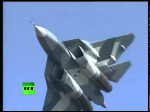 'Russian Stealth' 1st public flight: Sukhoi PAK FA T-50 at MAKS airshow