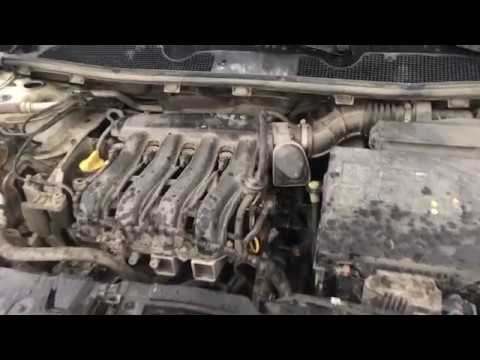 Чистка дроссельной заслонки Renault Megane 3 двигатель K4М 1.6