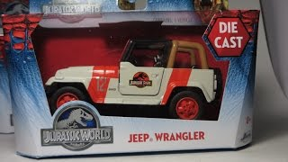 getlinkyoutube.com-Jada Jurassic World Diecast, Jurassic Park Jeep Wrangler #12 Review