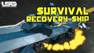 getlinkyoutube.com-Space Engineers -  Survival Recovery Ship