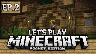 getlinkyoutube.com-Survival Let's Play Ep. 2 - The Hobbit Hole! - Minecraft PE (Pocket Edition)