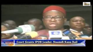 Court Grant IPOB Leader, Nnamdi Kanu Bail