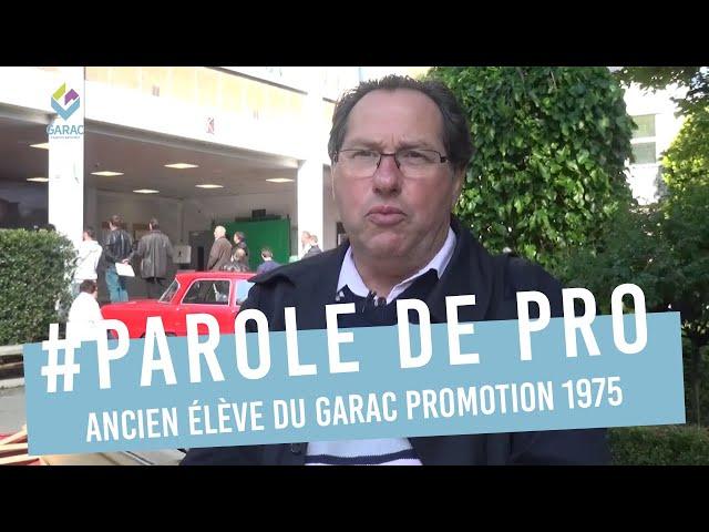Patrick POINOT Promotion GARAC 1975