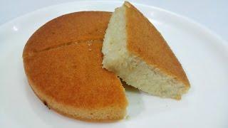 Eggless Vanilla Sponge Cake    Pressure Cooker Eggless Sponge Cake Recipe