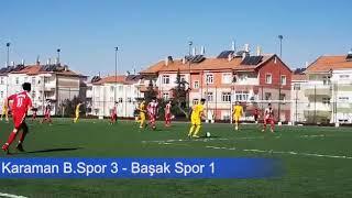 Karaman U19 Belediyespor Başak Spor maçı
