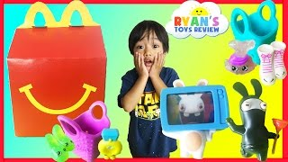 getlinkyoutube.com-McDonald Indoor Playground for Kids Happy Meal Surprise Toys Shopkins Rabbids Ryan ToysReview