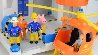 getlinkyoutube.com-Fireman sam Videos fire engines surprise eggs peppa pig video Animation