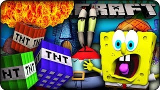 getlinkyoutube.com-Minecraft Mods - TNT EXPLOSIONS ON BIKINI BOTTOM MAP! - Too Much TNT Mod Showcase