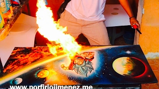 Goku super saiyajin spray paint art