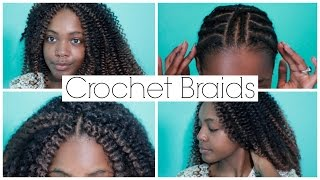 getlinkyoutube.com-How To Do Natural Looking Crochet Braids With Invisible Part Easy 2015 (Freetress Waterwave)