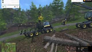 getlinkyoutube.com-Farming Simulator 2015 Woodcutting #1