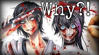 getlinkyoutube.com-Why Do I Draw Creepypasta Characters?! (Nina The Killer Speedpaint)
