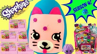 getlinkyoutube.com-SHOPKINS SEASON 4 Special Edition Petkin Play Doh Surprise Egg | 12 Pack Blind Baskets