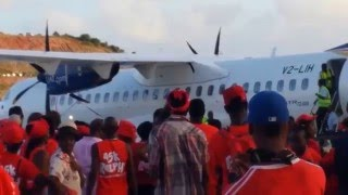 getlinkyoutube.com-LIAT ATR 72 600, SVG Air Cessna 560 and more landing @ the Argyle International Airport (AIA)