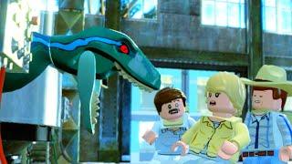 getlinkyoutube.com-LEGO Jurassic World Escaping from the Raptors, Jurassic Park 3