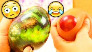 getlinkyoutube.com-NEUE verrückte Antistressball CHALLENGE   Evas & Kathis Experiment mit super viel Material   FUN
