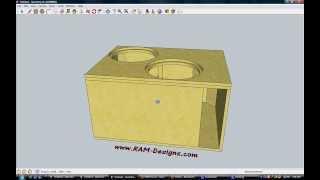 """getlinkyoutube.com-RAM Designs: DC Sounds XL 15"""" Ported Sub Box Design"""