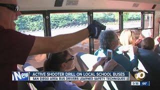San Diego-area bus drivers learn safety techniques in active shooter drill