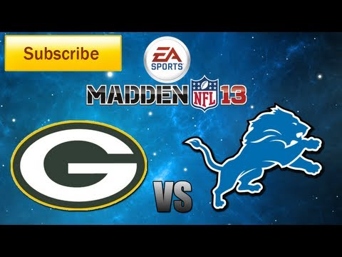 Madden 13: Green Bay Packers vs. Detroit Lions Full Game [HD]