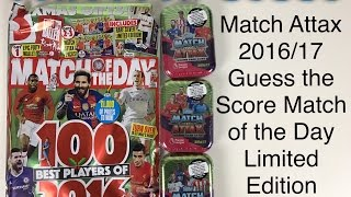getlinkyoutube.com-Match Attax 2016/17 Guess the score match of the day limited edition special