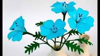 getlinkyoutube.com-Paper Flower Baby Blue Eyes (flower # 114)