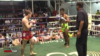 getlinkyoutube.com-Brutal Muay Thai Fight - Lots of Elbows & Blood