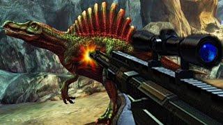 getlinkyoutube.com-Spinosaurus Vs Sniper - Dino Hunter Deadly Shores