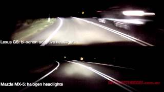 getlinkyoutube.com-Xenon vs. Halogen headlight comparison (also Static vs. Adaptive headlights)