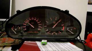getlinkyoutube.com-BMW E36 Instrument Cluster on PC via USB & Arduino MEGA - Speedo / Rev Counter LIVE