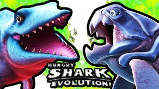 getlinkyoutube.com-Hungry Shark Evolution - Mr. Snappy vs Big Daddy