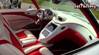 "White/Red 1972 Impala Donk on 26"" Amani Forged Wheels - 1080p HD"