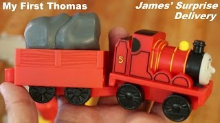 getlinkyoutube.com-My First Thomas & Friends: James' Surprise Delivery Playtime w/ Hulyan & Maya