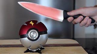 getlinkyoutube.com-Real Life PokeBall VS 1000 Degree KNIFE