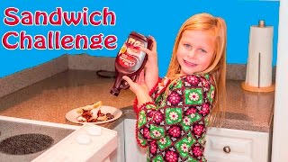 ASSISTANT Sandwich Making Cooking Challenge with Mickey Mouse + Doc McStuffins in Real Life Parody