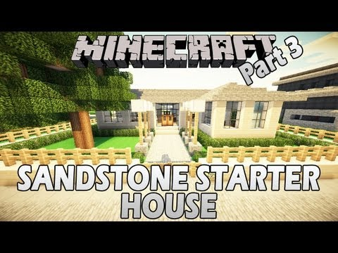 Minecraft Let's Build: Simple Sandstone Starter House - Part 3