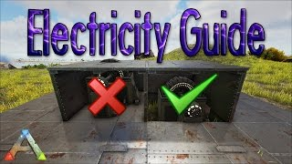 getlinkyoutube.com-ARK - How To Protect Your Generator And Cables | Turret Placement Guide | Building Tips & Ideas