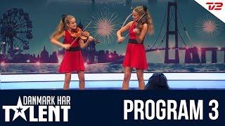 getlinkyoutube.com-Violinisterne Freja & Isadora - Danmark har talent - Program 3
