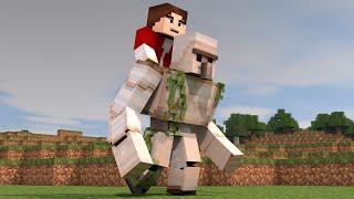 getlinkyoutube.com-Riding an Iron Golem - Minecraft Speedart #31