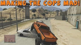 Grand Theft Auto 5 | Multiplayer Fun | Tomcat and EKDrifter458 Make The Cops Mad!