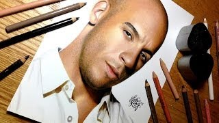 getlinkyoutube.com-Drawing Vin Diesel