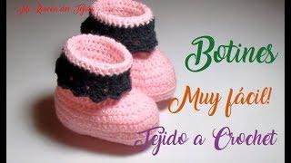 Zapatitos o botines para bebe paso a paso a crochet - Mi rincón del tejido
