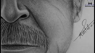 getlinkyoutube.com-تعلم رسم مسامات الوجه والشعر الابيض الشيب