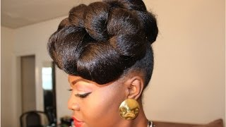 getlinkyoutube.com-Hair Tutorial; Protective Style, Up do (Requested)