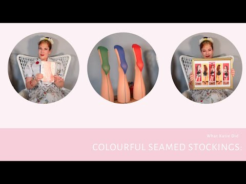 Seamed Stockings: Are Colourful Seams 1950s Period Correct?