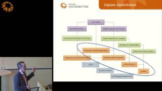 Magnus Rudehäll - presenterar arbetet med digitalisering vid regionfullmäktige 2015-03-26