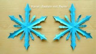 getlinkyoutube.com-Schneeflocken basteln - Basteln Winter - Basteln mit Papier - Winterdeko